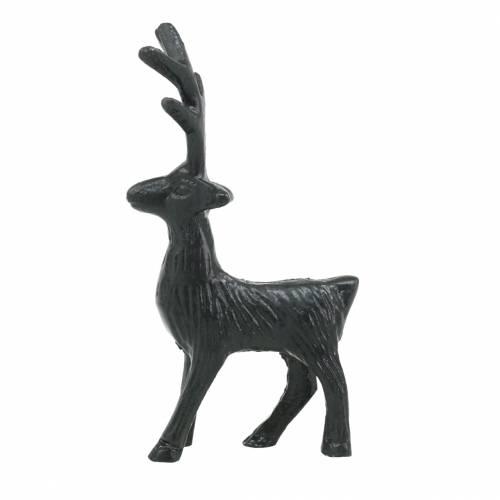 Deko-Rentier Schwarz Metall 12,5cm × 6,5cm 3St
