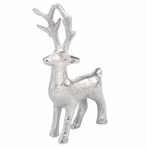 Deko-Rentier Silbern Metall 6,5×H12,5cm 3St
