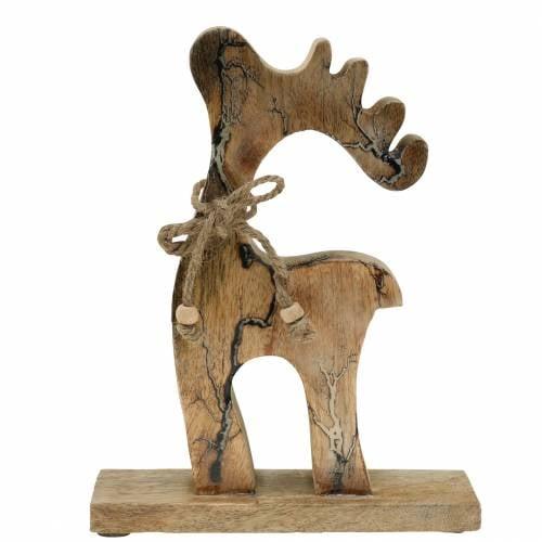 Weihnachtsdeko Dekofigur Rentier Holz 21cm