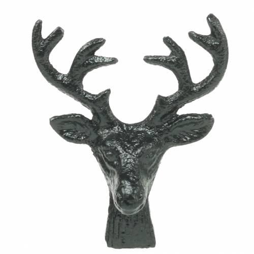 Weihnachtsdeko Hirschkopf Metall Schwarz 6,8cm 6St