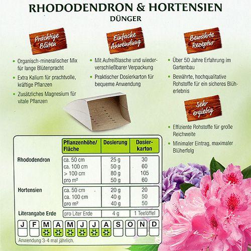 rhododendron und hortensien d nger 1kg preiswert online kaufen. Black Bedroom Furniture Sets. Home Design Ideas