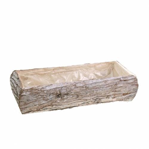 Pflanzkasten Holz Weiß gewaschen 34×17cm H9cm