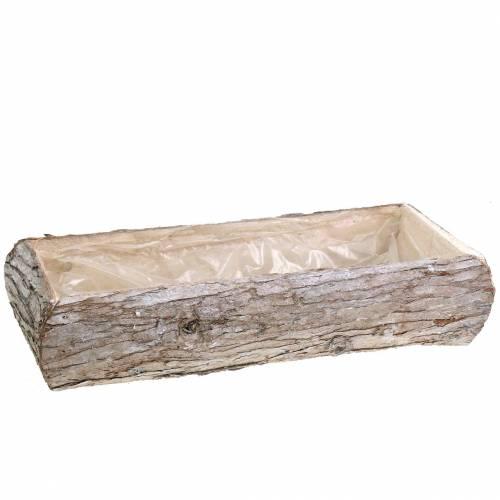 Pflanzkasten Holz Weiß gewaschen 45×19cm H10cm