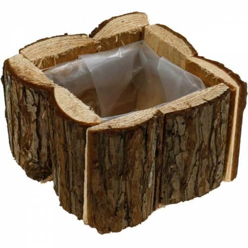 Pflanzkasten Rinde Blumenkasten Holz 14×14cm