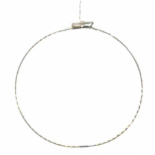 Ring mit Micro LED Ø38cm Warmweiß 125L Weiß Für außen und innen