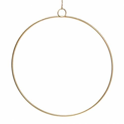 Deko Ring zum Hängen Gold Ø35cm 4St