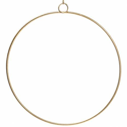 Deko Ring zum Hängen Gold Ø50cm 3St