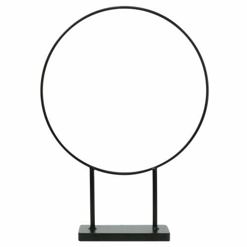 Deko-Ring mit Standfuß Schwarz Ø28cm