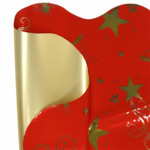 Rondella Manschette Weihnachtsmotiv Rot Gold 60cm 50St