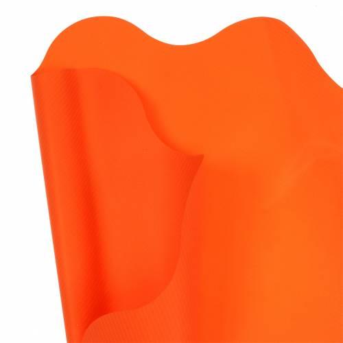 Rondella Manschette Orange Gestreift Ø40cm 50St Topfmanschette