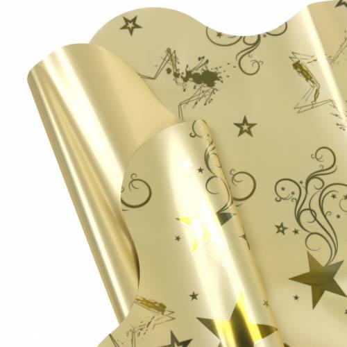 Rondella Manschette Weihnachtsmotiv Gold Ø60cm 50St