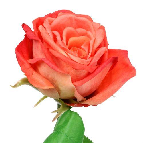 Rose Kunstblume Lachs 67,5cm