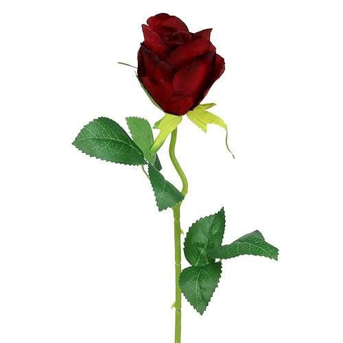 Rose Rot künstlich Ø6cm L50cm