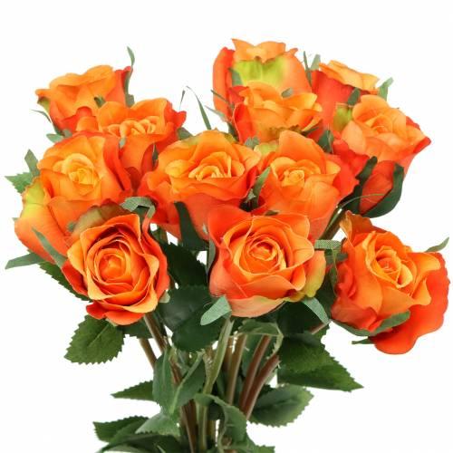 Rose Orange 42cm 12St