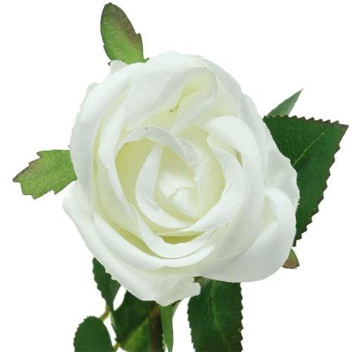 Rose Weiß 44cm für Dekoration 6St