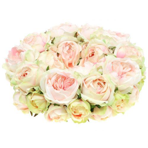 Rosenkranz Crème/Rosa Ø30cm