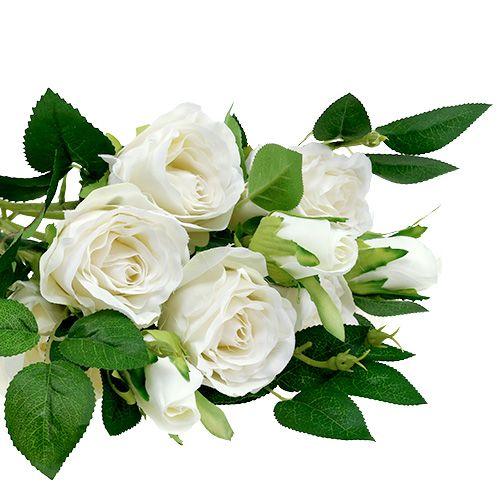 Rosenstrauß Weiß L46cm