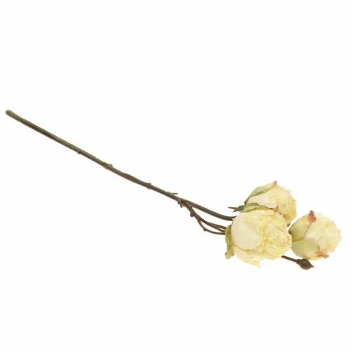 Rosenzweig künstlich Cremeweiß 45cm