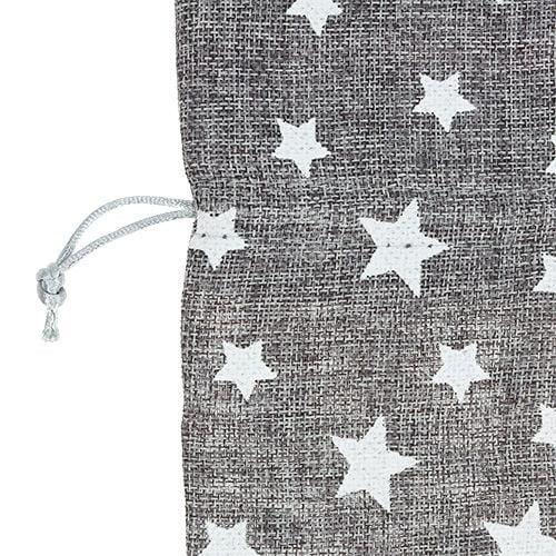 Säckchen mit Sternen Ø23cm H35cm Grau