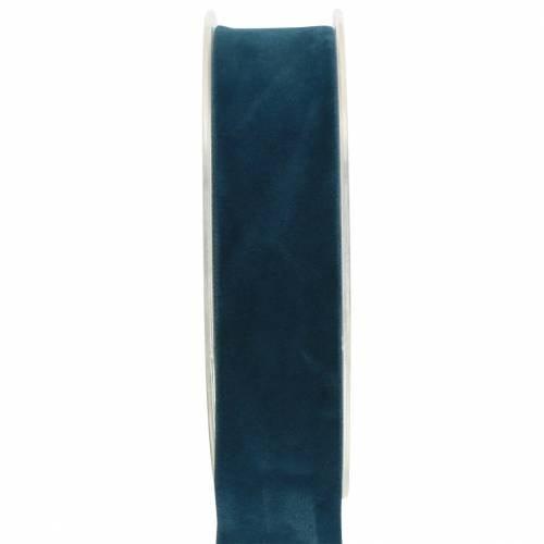 Samtband Blau 25mm 7m