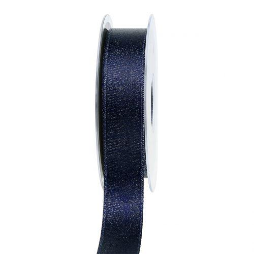 Satinband mit Glimmer Blau 25mm 20m