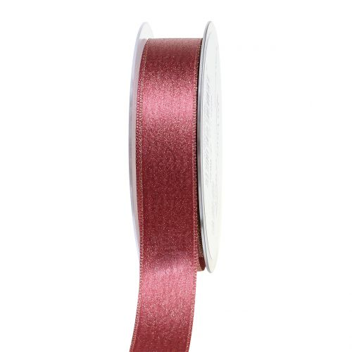 Satinband mit Glimmer Rosa 25mm 20m
