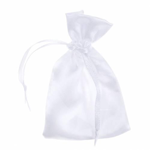 Satinsäckchen Weiß 6,5×10cm 10St