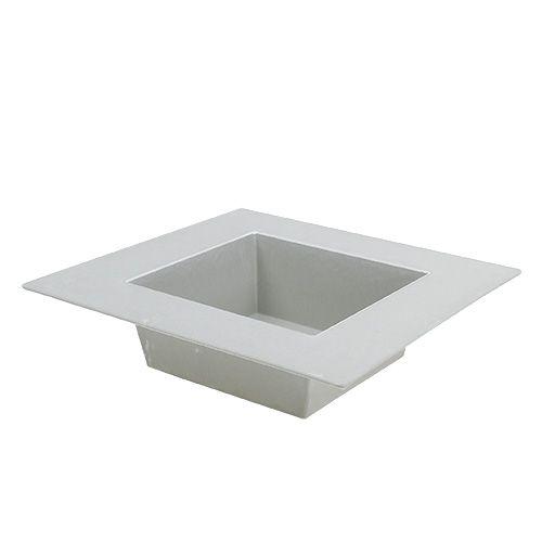 Schale eckig Grau 20cm x 20cm, 1St