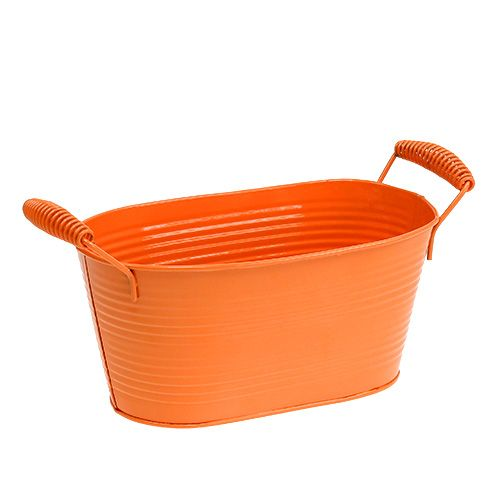Schale oval Orange 20cm x 12cm H9cm