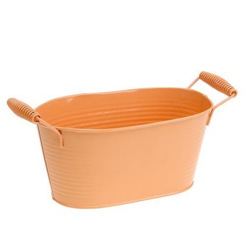 Schale oval Pastell Orange 20cm x 12cm H9cm