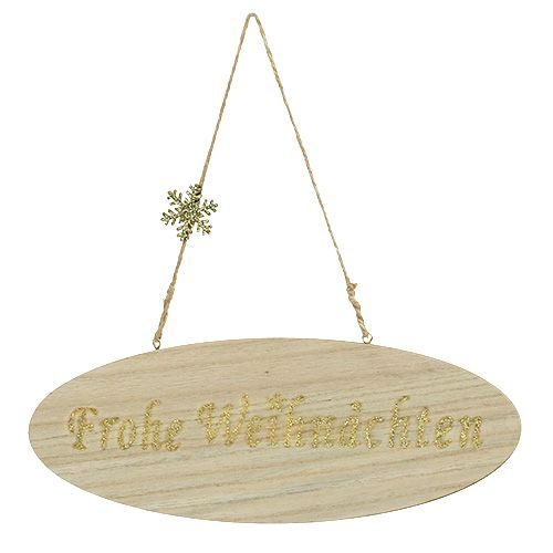 """Schild """"Frohe Weihnachten"""" 30cm x 11cm 3St"""