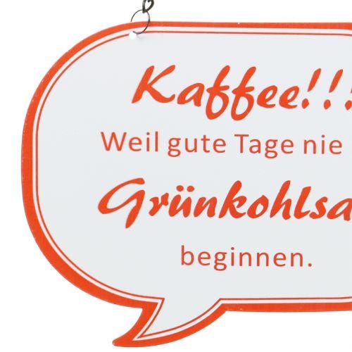 """Schild zum Aufhängen """"Kaffee!!!"""" 13,5cm x 7,5cm 3St"""