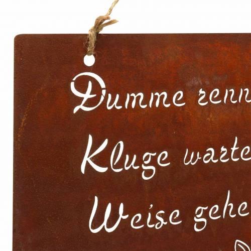 Deko-Schild mit Spruch zum Hängen Edelrost 35x30cm