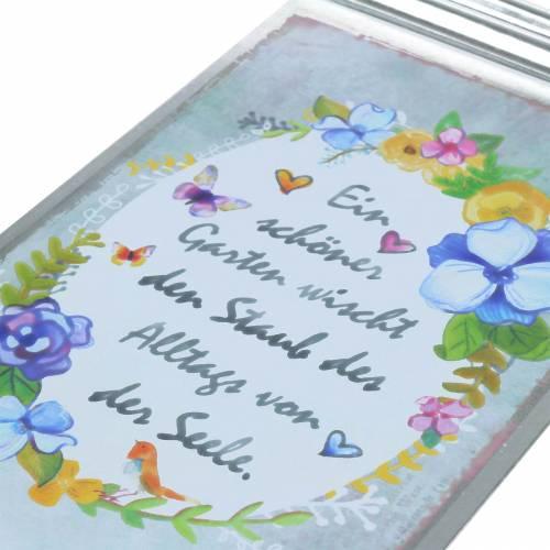 """Deko-Schild """"Ein schöner Garten..."""" zum Aufhängen Metall 20x35,5cm 2St"""