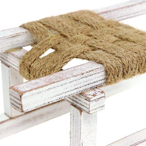 schlitten aus holz wei 28cm x 11cm x 11cm 1st preiswert online kaufen. Black Bedroom Furniture Sets. Home Design Ideas