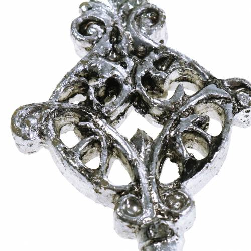 Deko Schlüssel zum Hängen Antik Silber 10cm 3St