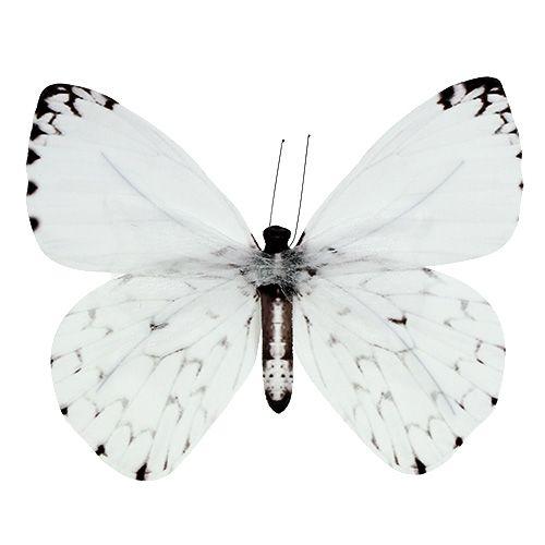 Schmetterling Weiß 20cm am Draht 2St preiswert online kaufen