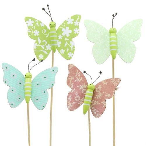 Deko-Schmetterlinge aus Holz bunt 12 St/ück