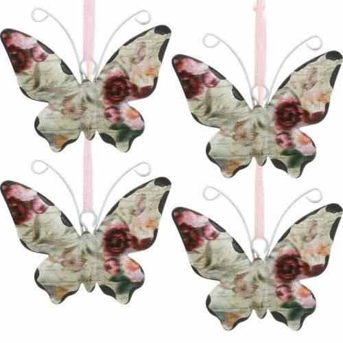 Schmetterling zum Hängen Metall Dekohänger 7cm Frühlingsdeko 12St