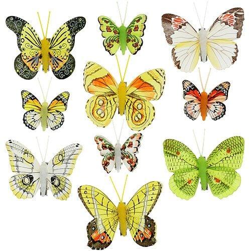 Schmetterlinge mit Clip 5cm - 7cm sortiert 10St