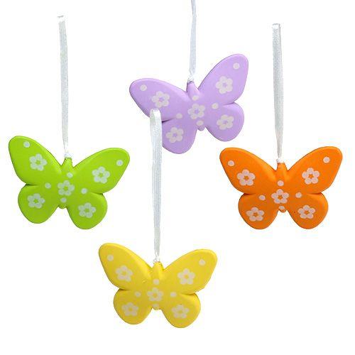 Schmetterlinge zum Hängen bunt 6,5cm 5St