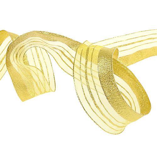 Schmuckband mit Lurexstreifen Gold 40mm 20m