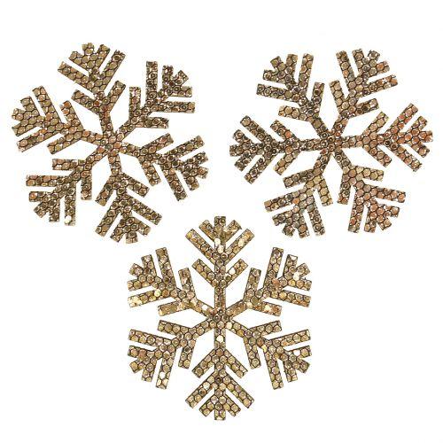 Weihnachtsdeko Gold.Schneeflocke Gold Weihnachtsdeko ø4cm 48st