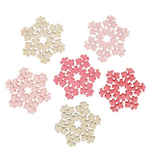 Schneeflocke Mix Pink, Rosa, Natur Ø2cm 144St