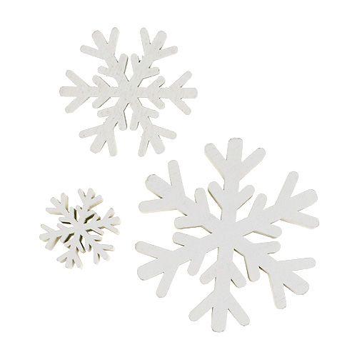 Schneeflocken Weiß mix 3cm - 7cm 48St