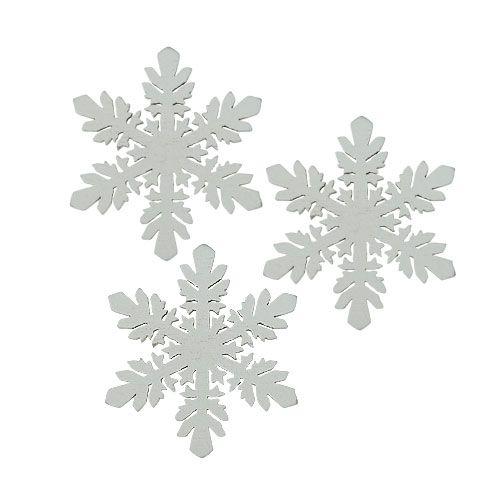 Gartenbänke Aus Holz In Weis ~ Schneeflocken aus Holz Weiß Ø3,7cm 48St preiswert online kaufen