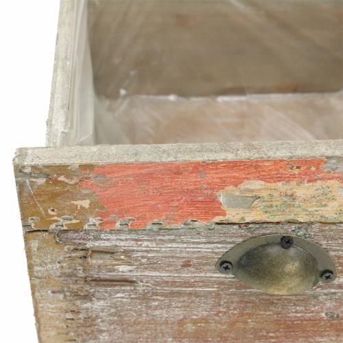 Pflanzgefäß Holzschublade Antik zum Pflanzen 20cm / 15cm