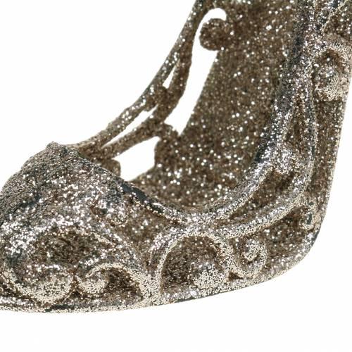 Christbaumschmuck Schuh Champagner Glitter 13cm 12St