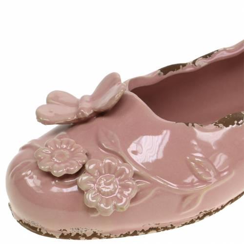 Pflanzgefäß Damenschuh Keramik Rosa 24cm