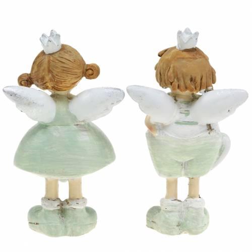 Deko-Figur Schutzengel Prinz Prinzessin Grau Weiß 11cm 6St
